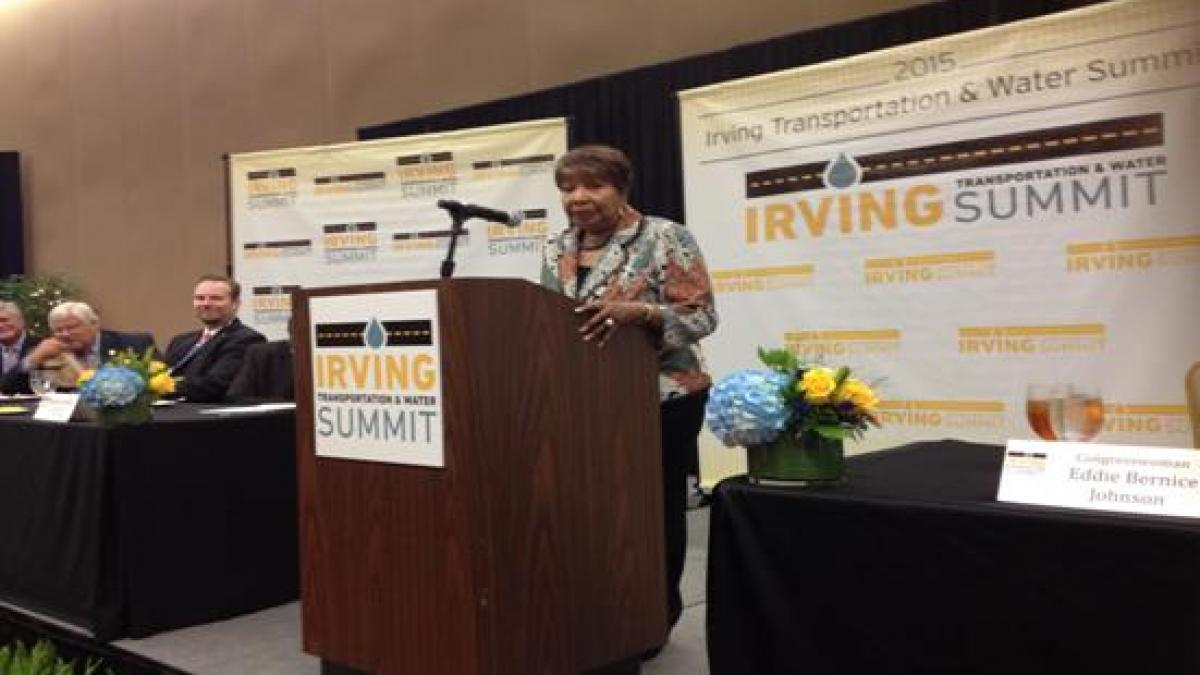 """Lifetime Infrastructure Champion Award"" at the Irving Transportation & Water Summit"